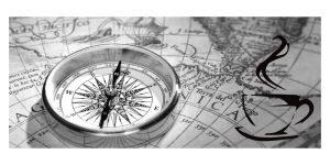 kompas kort kop